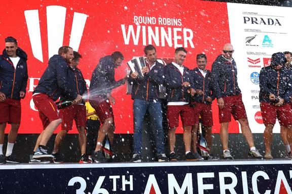 INEOS Team UK wins the Prada Cup Round Robins!
